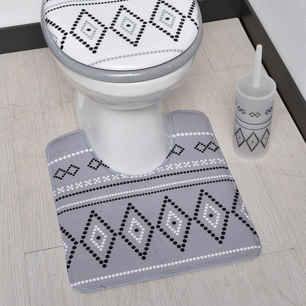 tapis contour wc nairobi gris tapis eminza. Black Bedroom Furniture Sets. Home Design Ideas