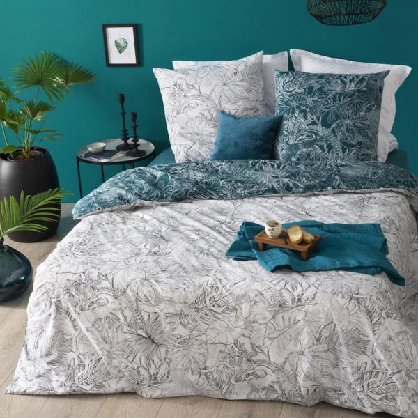 bettw sche aus baumwolle 240 cm jungle schwarz wei. Black Bedroom Furniture Sets. Home Design Ideas
