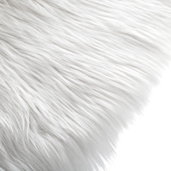 tapis imitation fourrure d90 cm rond blanc tapis eminza. Black Bedroom Furniture Sets. Home Design Ideas