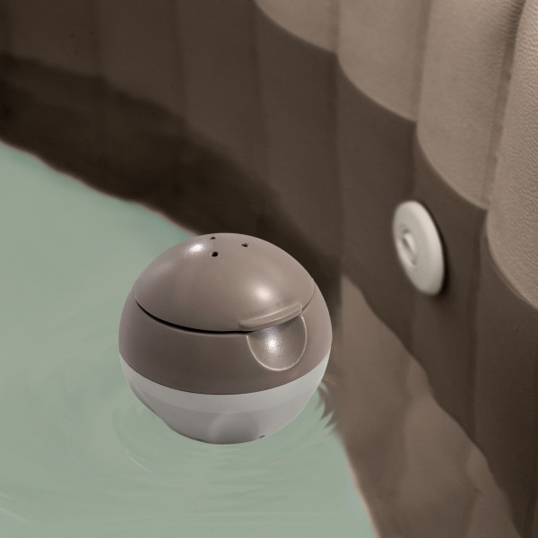 Diffuseur de chlore flottant rond taupe intex piscine - Pastille chlore piscine gonflable ...