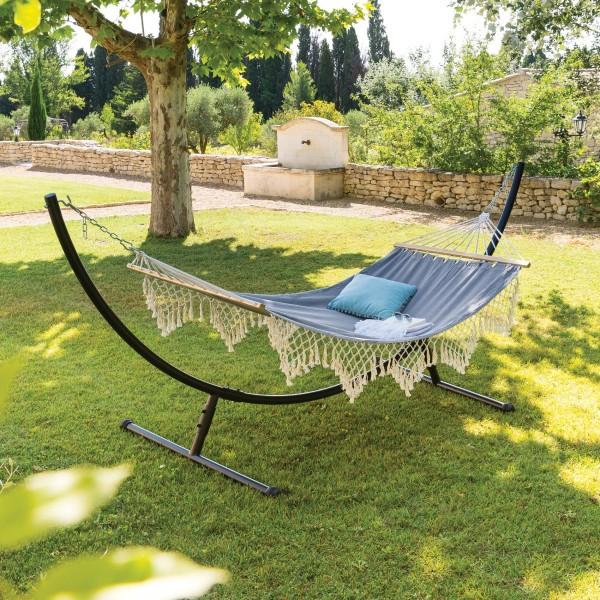 toile de hamac duo rialto gris perle transat et hamac. Black Bedroom Furniture Sets. Home Design Ideas