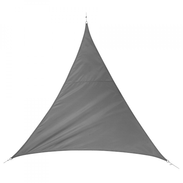 Voile d'ombrage Triangulaire (L5 m) Quito Luxe - Ardoise