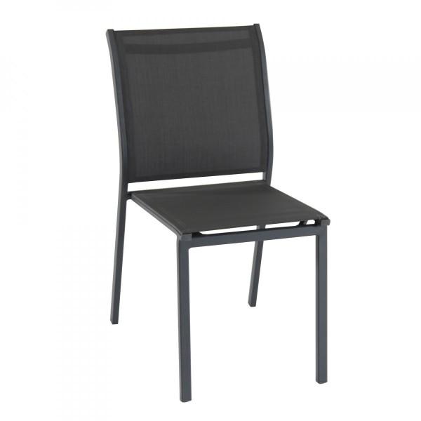 Chaise de jardin alu empilable essentia gris anthracite gris graphite salon de jardin table - Chaise de jardin gris anthracite ...