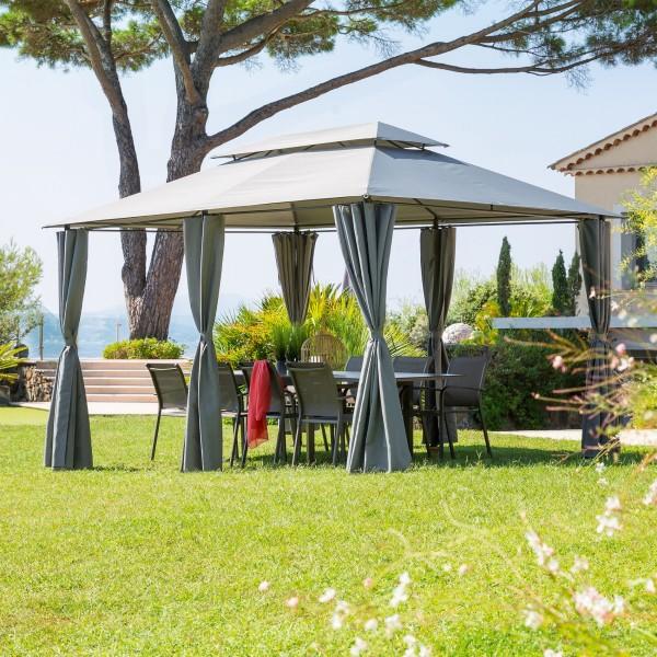 tonnelle thira 4 x 3 m graphite tonnelle et. Black Bedroom Furniture Sets. Home Design Ideas