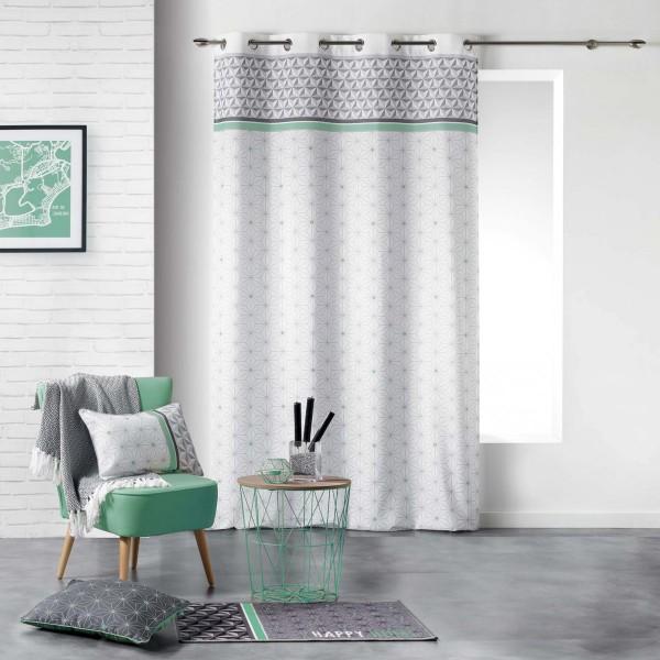 rideau tamisant 140 x 280 cm mirade vert menthe rideau. Black Bedroom Furniture Sets. Home Design Ideas
