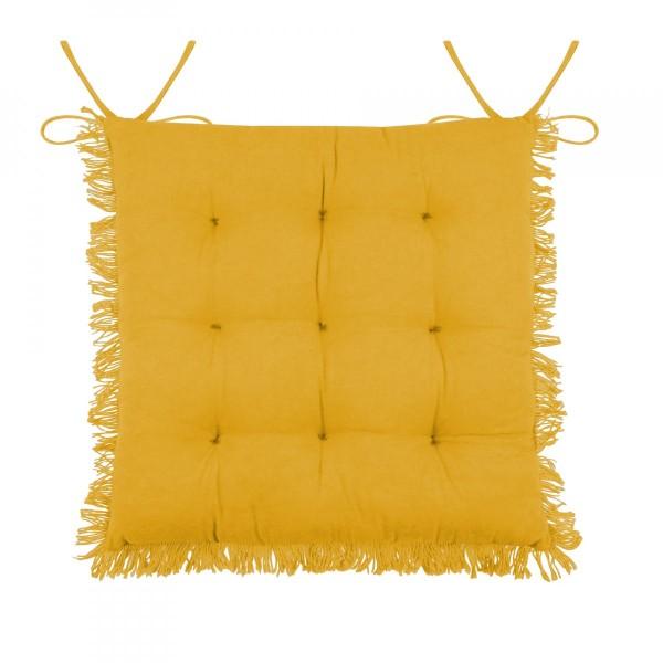 galette de chaise prague jaune moutarde d co textile. Black Bedroom Furniture Sets. Home Design Ideas