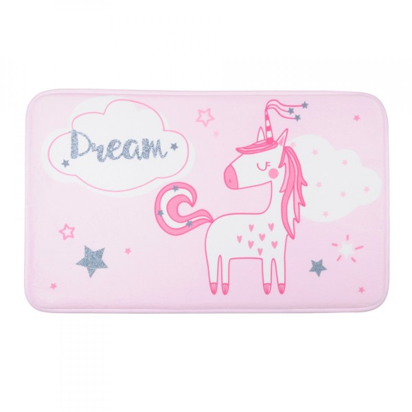 Tapis de chambre (75 cm) Unicorn Dream Rose