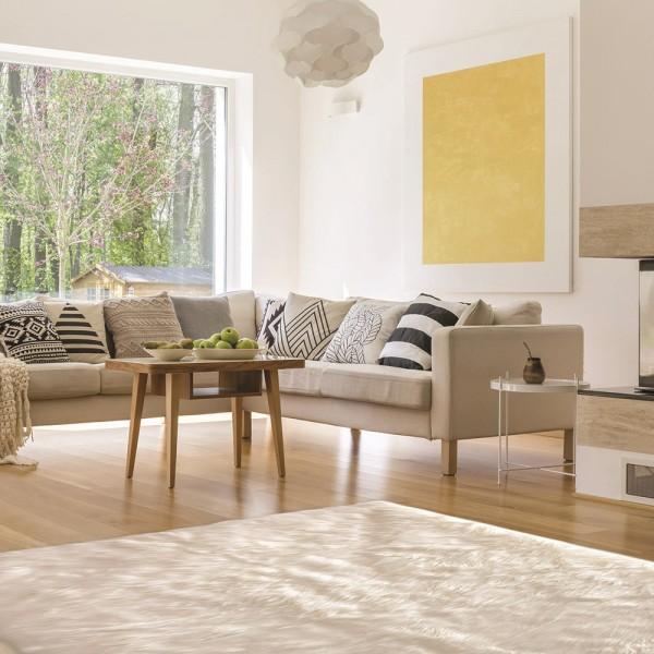 tapis imitation fourrure 170 cm dona ecru tapis eminza. Black Bedroom Furniture Sets. Home Design Ideas