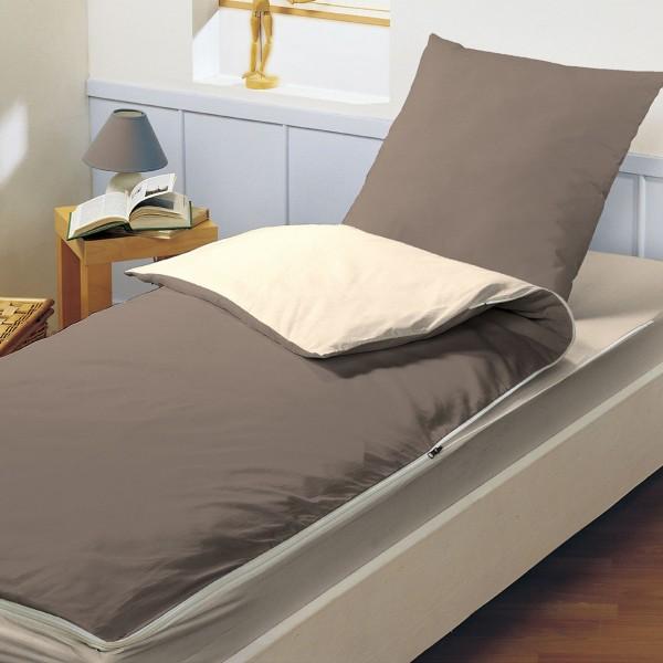 Parure de couette compl te 90 cm caradou marron pralin - Parure de lit beige et marron ...