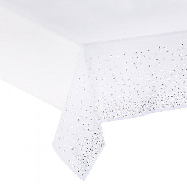 Mantel rectangular (L240 cm) Strass Blanco