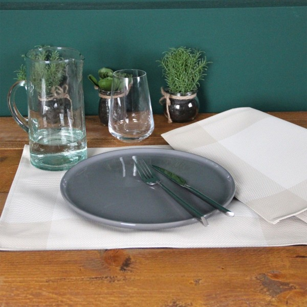 Lot de 6 sets de table Bicolor Lin