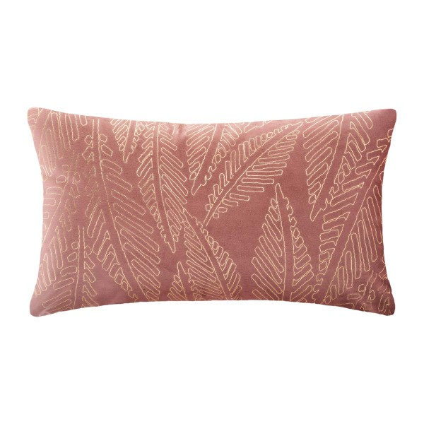 Coussin rectangulaire velours Or Tropic Rose blush