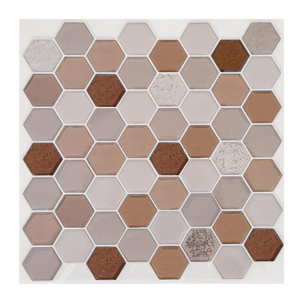 Lot de 2 planches stickers Hexa Marron