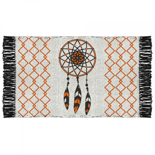 Tapis coton (80 cm) Tribal Attrape rêves Orange