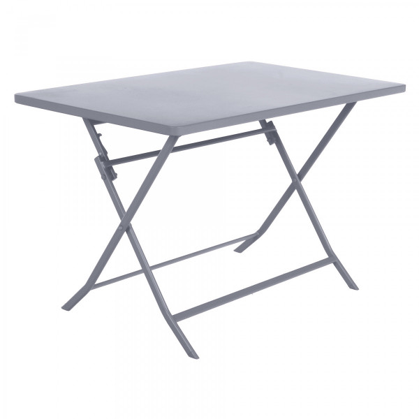Table de jardin rectangulaire pliante Métal Greensboro (110 x 70 cm) - Gris quartz