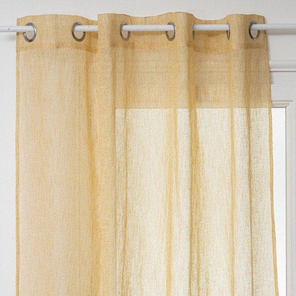 Visillo(140 x 260 cm) Fred Amarillo ocre - Cortina/Visillo ...