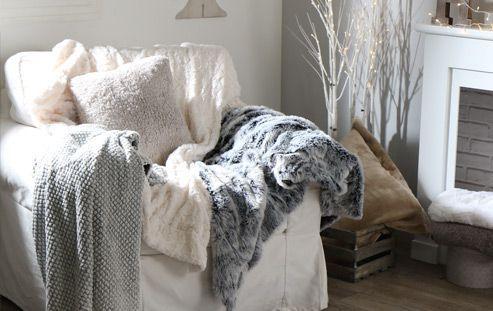 Cet hiver, multipliez les plaids tout doux !