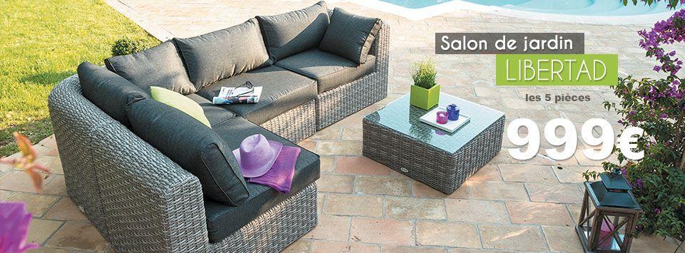 mobilier de jardin eminza. Black Bedroom Furniture Sets. Home Design Ideas