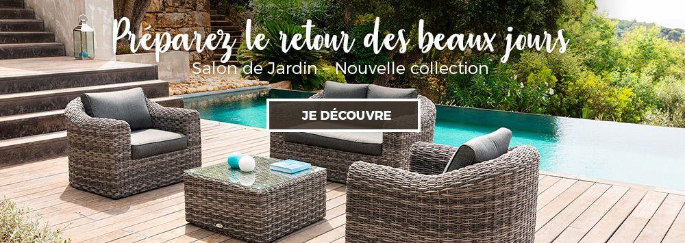 Mobilier de jardin salon de jardin bain de soleil for Prix piscine resine enterree
