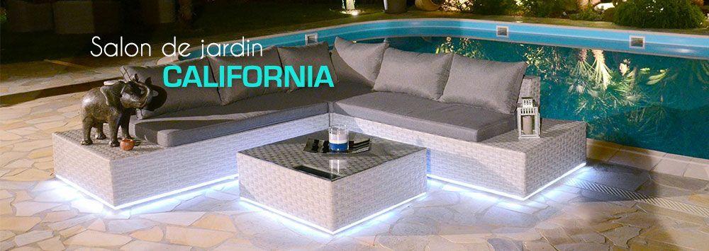 Salon de jardin California LED