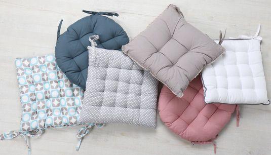 Galette et coussin de chaise : confort tendance