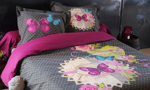 Linge de lit housse de couette couette draps couvre for Housse de couette ou couvre lit