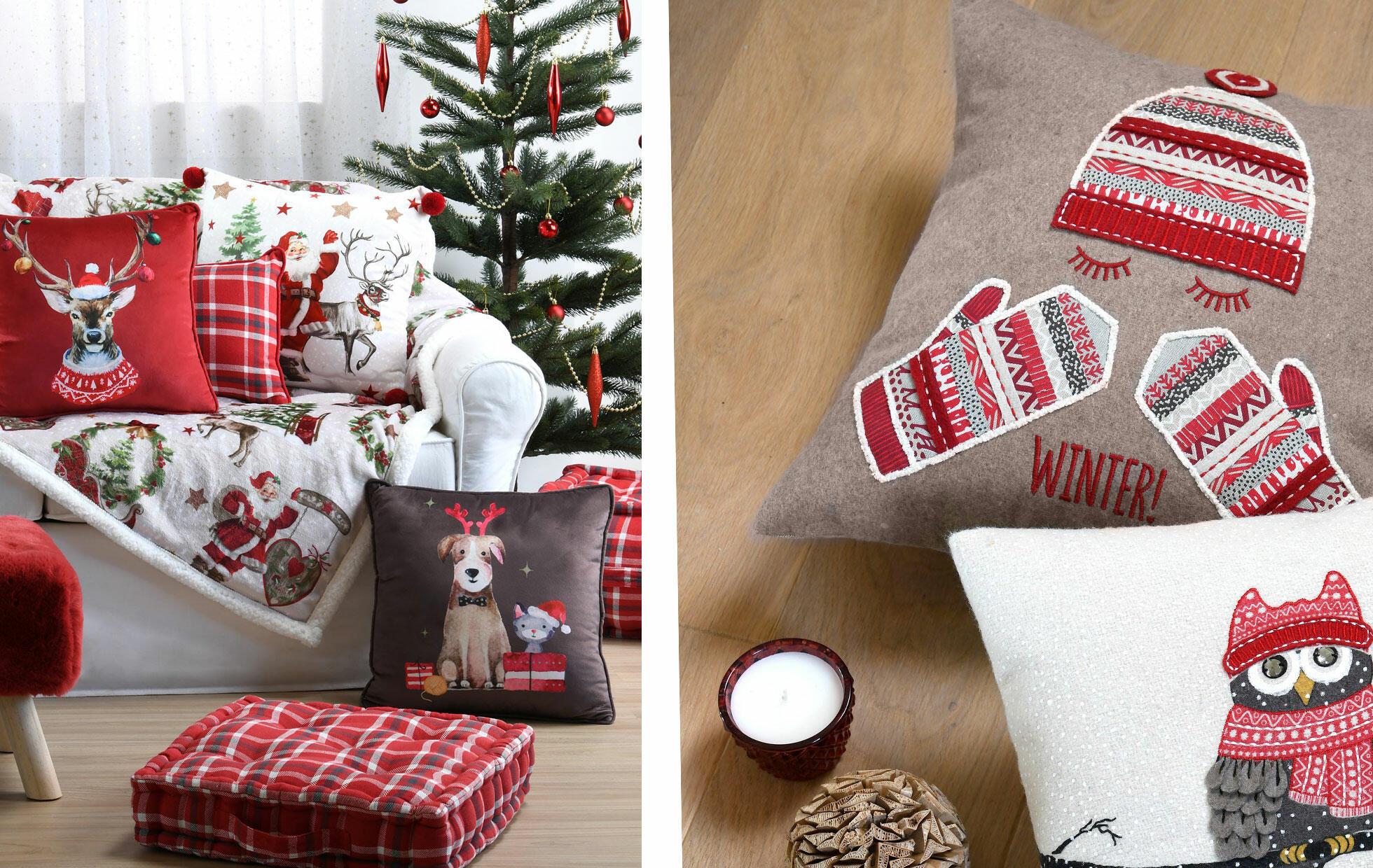 biancheria per la casa di Natale