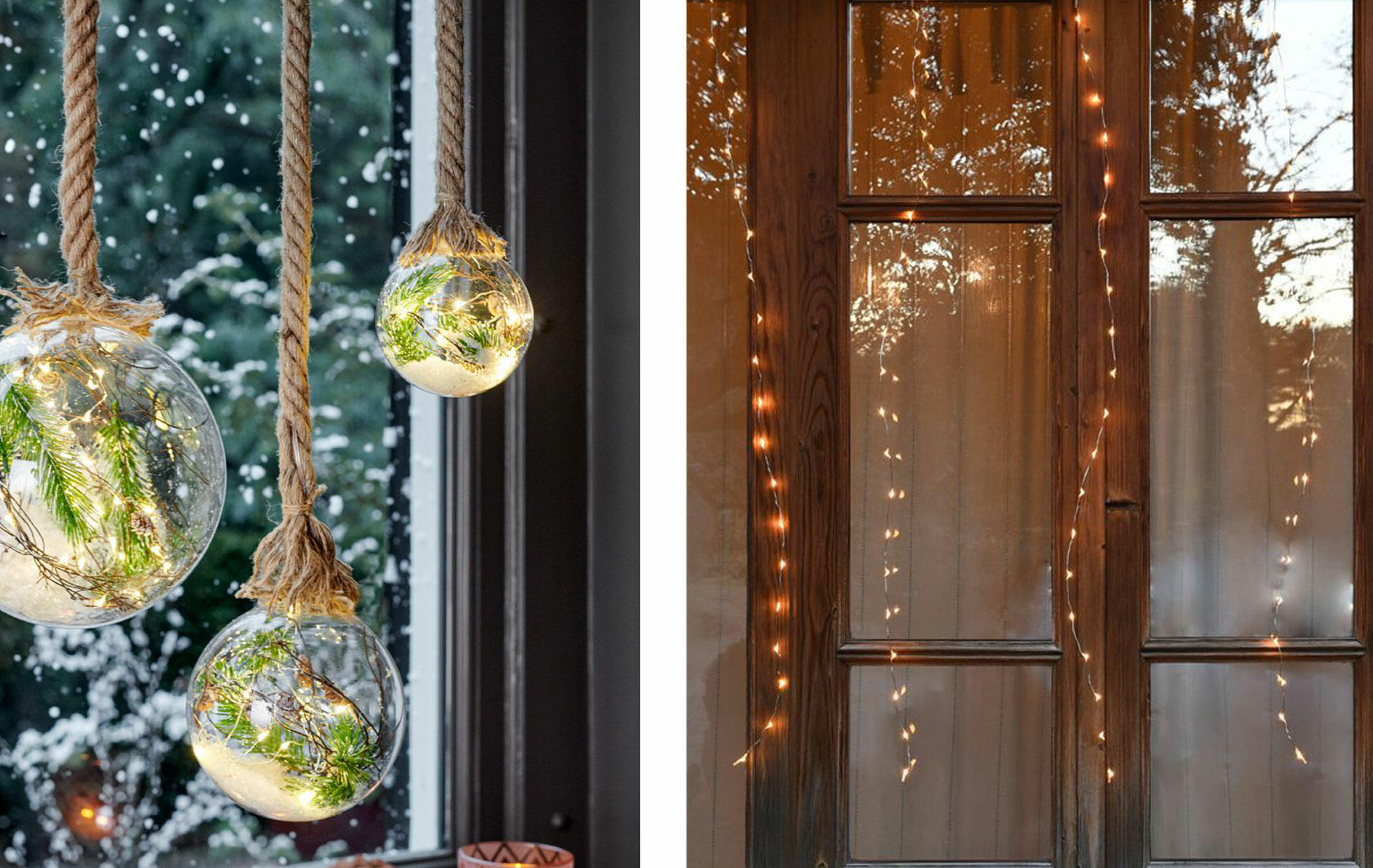 Decorazioni di Natale per finestra