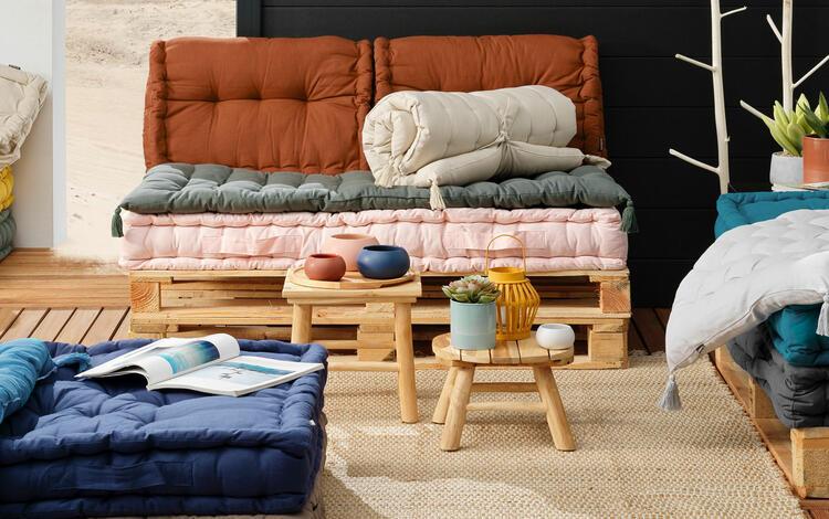 cojín para muebles de jardín palet