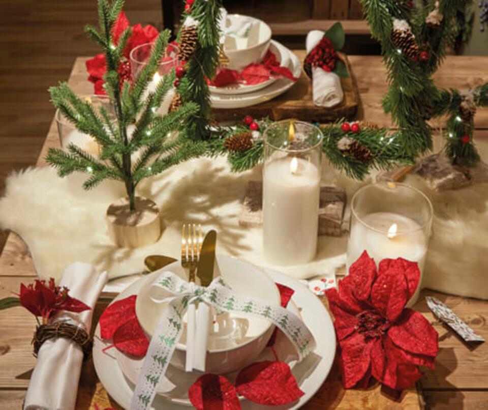 table de noel rouge et verte