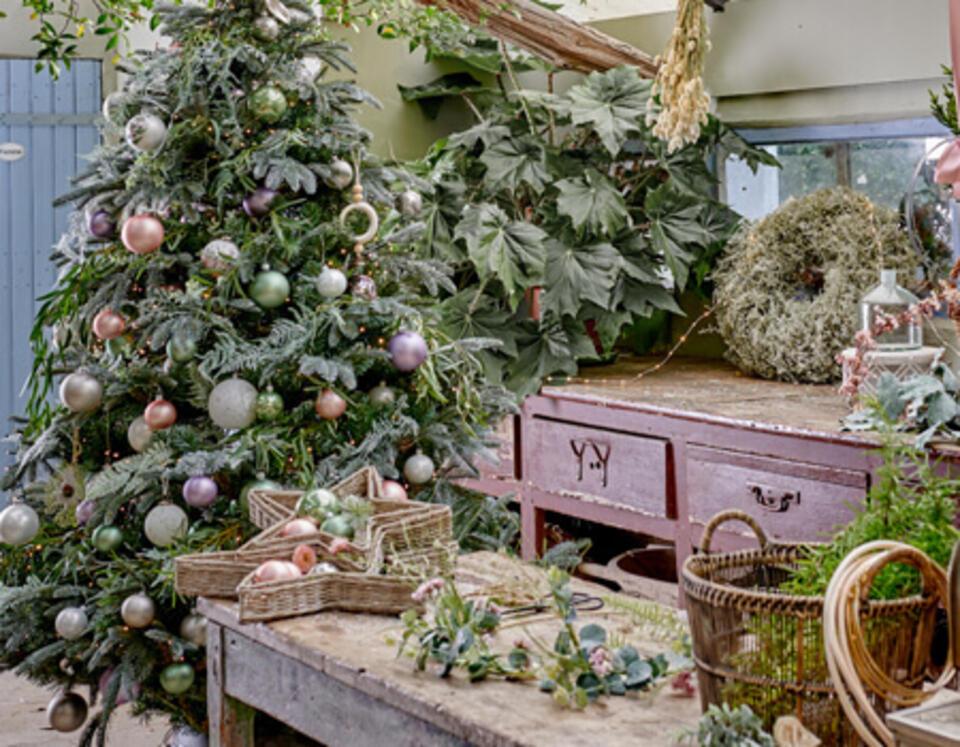 estilo Navidad bosque encantado