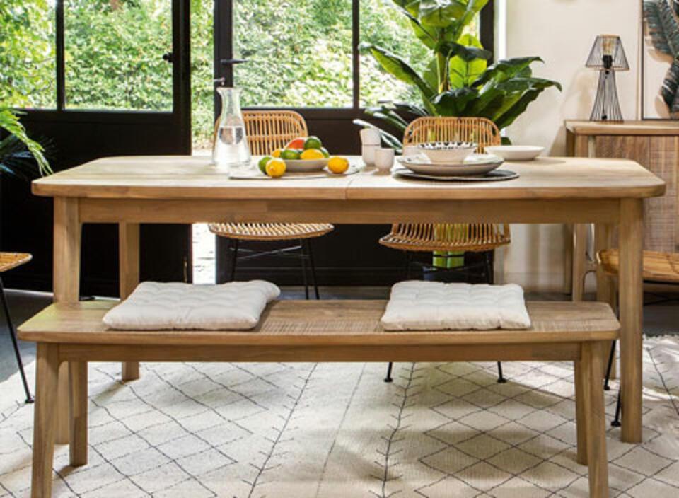 mesa de madera accacia