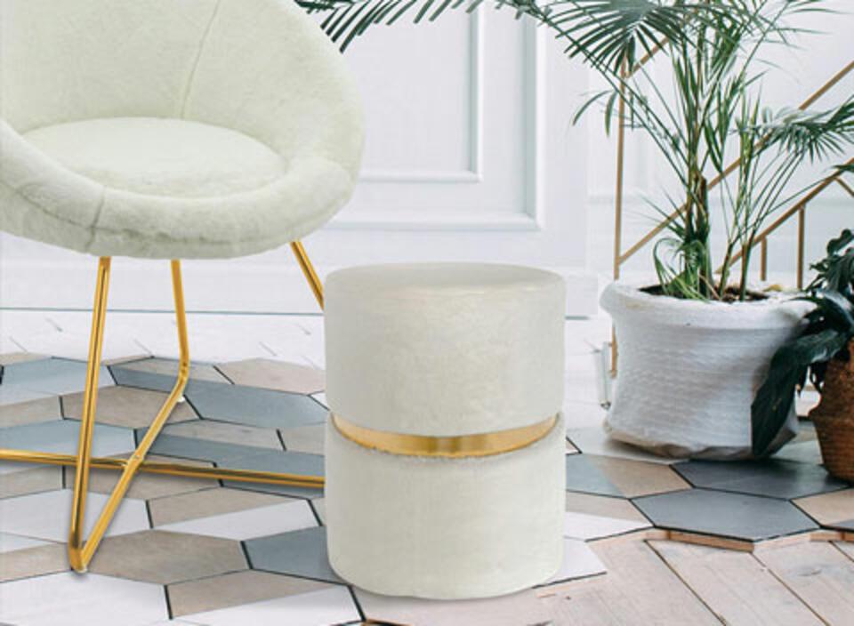 fauteuil blanc tendance