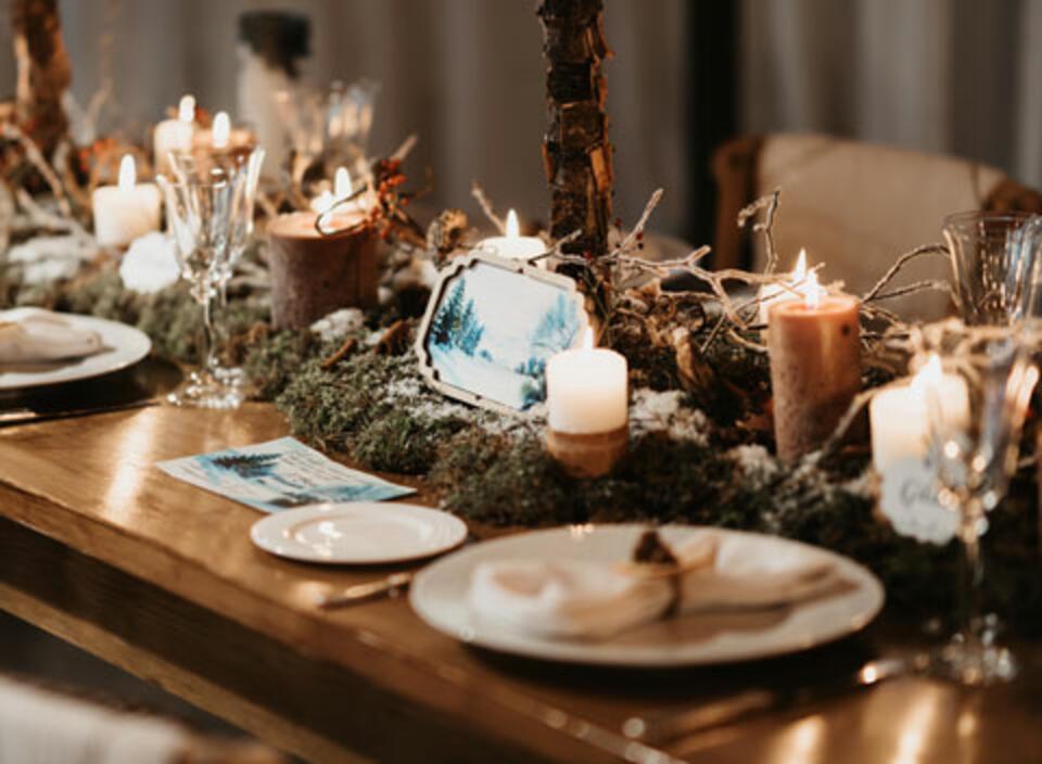 Idee tavolo natalizio natura