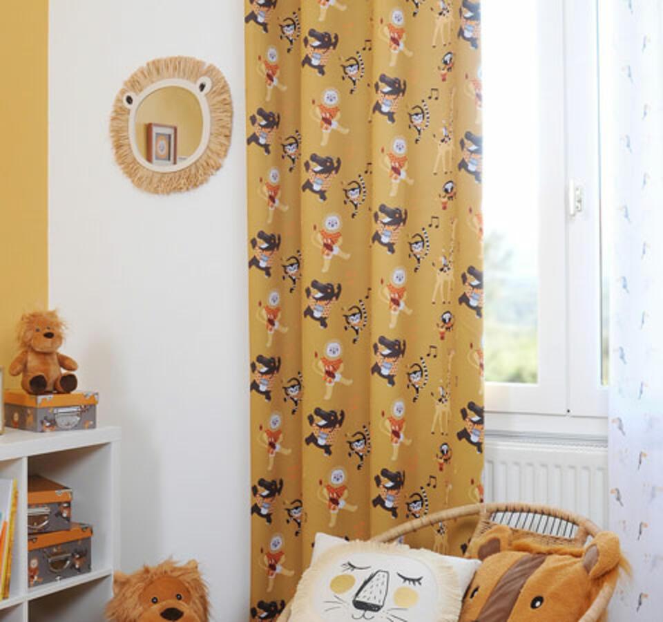 cortina infantil selva