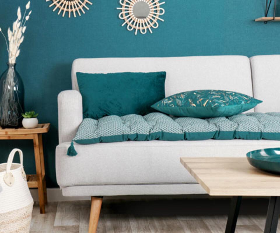 édredon para sofá