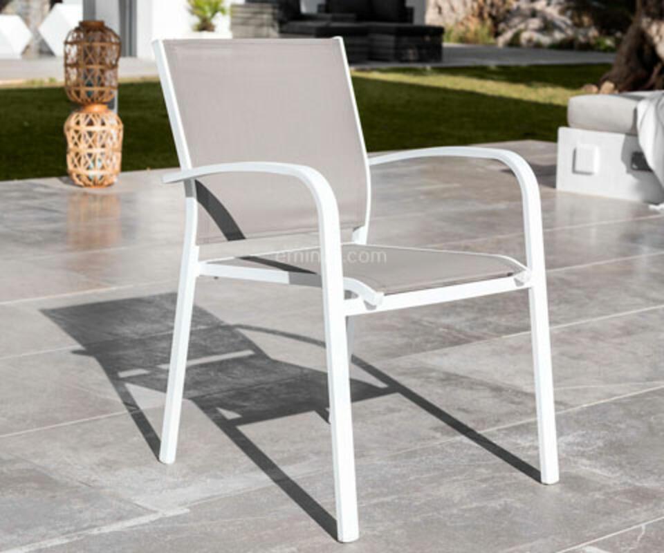 chaise de jardin aluminium blanc