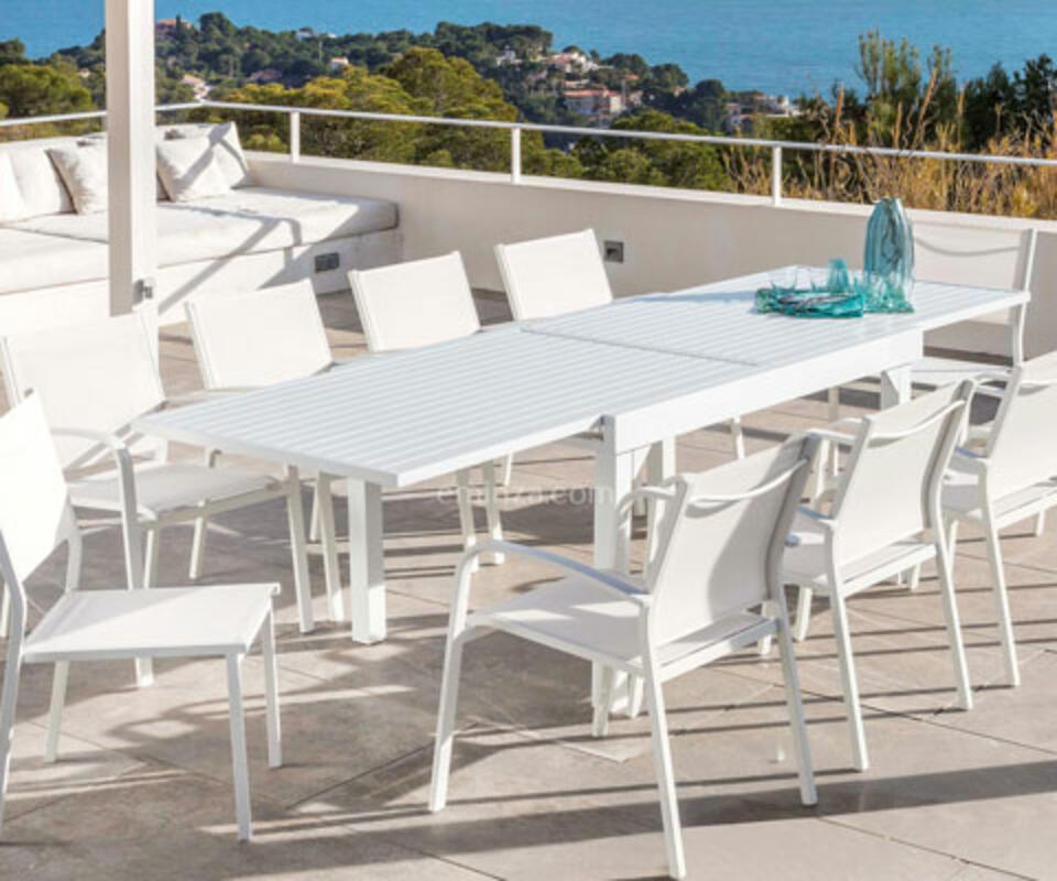 table blanche alu
