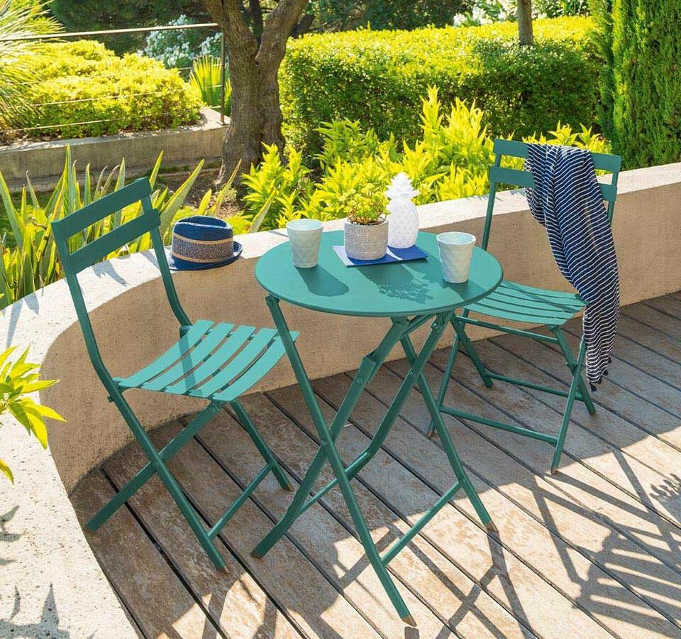 silla de jardín en acero