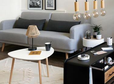 arredo salone minimalista