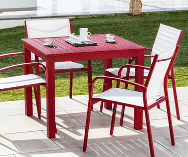 Mesa de jardín de aluminio de color barata