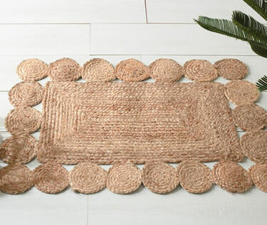 alfombra de yute rectangular