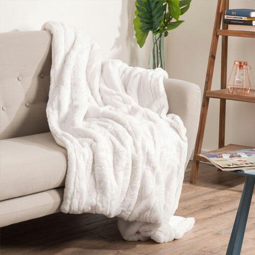 manta blanca talla grande