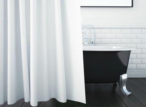 baño moderno blanco y negro
