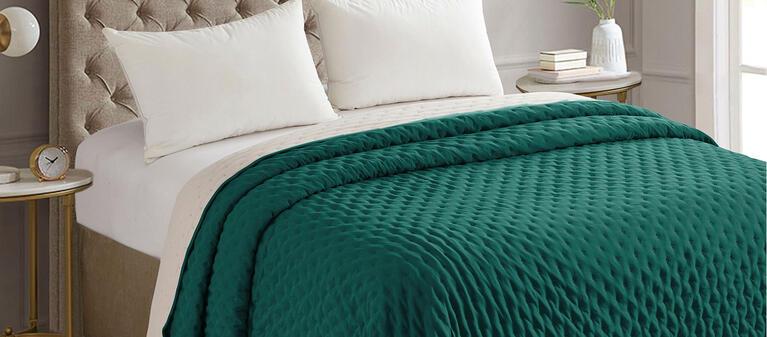 HomeLife Parure de lit 2 places en coton taies doreiller 52 x 82 cm drap housse 180 x 200 cm fabriqu/ée en Italie drap plat 250 x 300 cm Bleu 2P