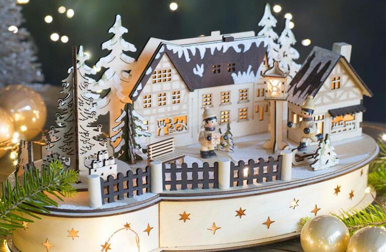 Villagi natalizi luminosi